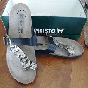 MEPHISTO soft-air technology sandals.